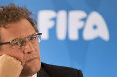 FIFA Secretary General Jerome Valcke in Rio de Janeiro, Brazil, Jan. 23, 2014. THE CANADIAN PRESS/AP, Felipe Dana