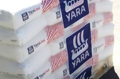 Bags of Yara fertilizer are picture in a handout photo. THE CANADIAN PRESS/HO, Yara