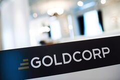 A Goldcorp sign is pictured at the Goldcorp annual general meeting in Toronto on May 2, 2013. THE CANADIAN PRESS/Aaron Vincent Elkaim