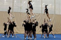 Stunt Evolution was held Sunday afternoon at the Investors Group Athletic Centre on University of Manitoba Campus. The event takes place annually to show off the skills and routines of cheerleading organizations throughout Winnipeg.