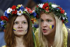 Ukraine fans wait for the start of a Euro 2012 soccer match in Donetsk, Ukraine, Tuesday, June 19, 2012. THE CANADIAN PRESS/AP, Kirsty Wigglesworth