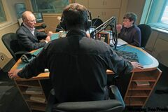 CJOB's Richard Cloutier hosts mayoral candidates Sam Katz and Judy Wasylycia-Leis on Tuesday.