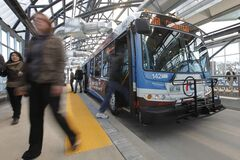 Plans for an extension of Winnipeg's rapid transit route are in limbo as the city and province fight over how to pay for the project.