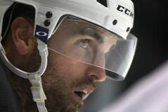 Locked out Winnipeg Jets captain Andrew Ladd at practice Wednesday at the MTS IcePlex.