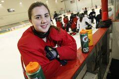 Danielle Krzyszczyk of the St. Mary's Flames excels on the ice and in the classroom. She plans to attend Harvard.