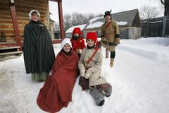 The official Festival du Voyageur Family: mother Jocelyn Gagnon, Katia , Cabrel, Miguel and father Daniel Vincent. The festival kicks off Friday with daily events running until Feb. 24
