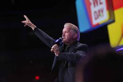 Martin Sheen, award-winning actor and  human rights advocate, speaks to thousands of young people at the MTS Centre.