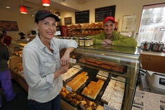 Crusty Bun Bakery co-owners Andi Ingenfeld and Frieda Brandt.