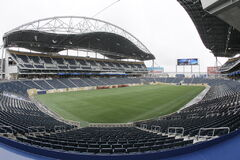 The Big Blue have 45 years to repay loans incurred to build Investors Group Field.