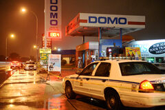Police were on scene at the Domo gas station at 314 Wardlaw Ave. on Thursday night after a suspected shooting. This morning, police remain tight-lipped on what occurred.
