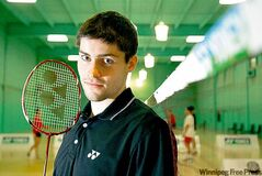 David Snider, 21, won his second Canadian national badminton championship.
