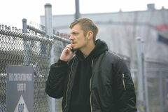 Swedish actor Joel Kinnaman plays Det. Stephen Holder, one of the cops trying to track down Rosie Larsen�s murderer on The Killing.