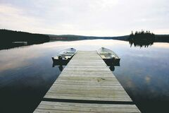 Experimental Lakes Area dock at Boundary Lake.