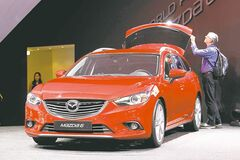 The Mazda 6 Wagon at the first media day of the Paris Auto Show.