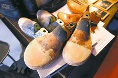 KEN GIGLIOTTI  / WINNIPEG FREE PRESS  A shoe mould for a customer with unusually wide feet.