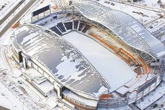 Investors Group Field, future home of the Winnipeg Blue Bombers, is seen from the air in a November file photo.