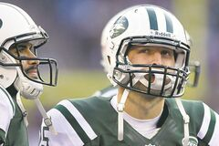 Controversy has swirled around QBs Mark Sanchez, left, and Tim Tebow all year.