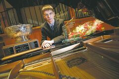 Matthew Packer won the Jean Broadfoot Trophy for best piano sonata of the festival and the Aikins Memorial Trophy for most outstanding instrumental performance  at the Winnipeg Music Festival.