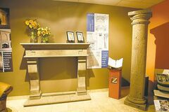 Faux-stone products are made of composite polyurethane and are very durable.