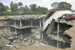 Kenya's military admits it caused three floors of the mall to collapse.