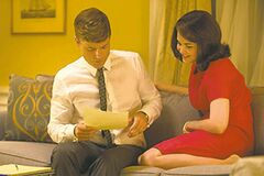 Rob Lowe and Ginnifer Goodwin as President John F. Kennedy and first lady Jacqueline Kennedy.