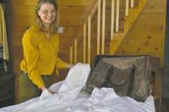 Duvets are double thickness, but can be easily switched to single thickness in warmer weather.