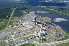 The Thompson nickel mine complex, including the smelter and refinery.