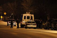 A standoff with a man armed with a shotgun unfolds in North Kildonan late Thursday night.