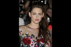 Actress Kristen Stewart is shown at the gala premiere for