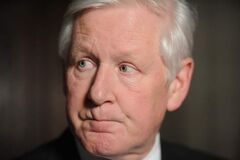 Liberal interim leader Bob Rae speaks to reporters following his apology regarding Vikileaks in the foyer of the House of Commons on Parliament Hill in Ottawa on Monday.