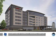 Artist's rendering of the Courtyard by Marriott  to be built at the Winnipeg airport.