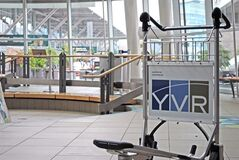 A baggage cart is seen in this undated handout photo. Vancouver International Airport has rolled out a fleet of