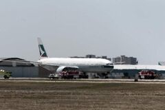 Cathay Pacific plane heading from Hong Kong to Chicago was diverted to Winnipeg.