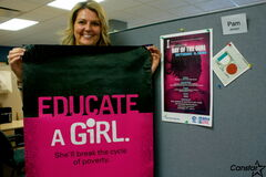 River East Transcona School Division community program co-ordinator (youth) Pam Jansen is working with three girls' clubs to help fundraise for Plan Canada's Because I am a Girl campaign.