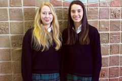 Balmoral Hall students Jaclyn Flom (left) and Ella Thompson (right) recently competed in the World Individual Debating and Public Speaking Championships in Durban, South Africa.