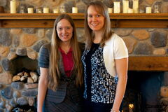 Olympic speedskater Cindy Klassen (right) is shown with sister Lisa. The sisters recently spoke about their personal faith journeys.