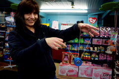 Newbridge Toy Shop owner Twyla Motkaluk hopes to start a yo-yo club in the city.