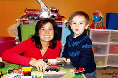 Dawna Atamanchuk and son Mackenzie are hoping to meet other caregivers and their youngsters at the Headingley Municipal Library on Nov. 7.
