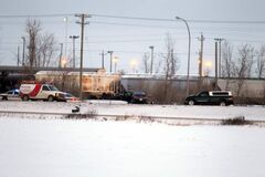 A man died in a collision on Fermor Avenue, west of the Plessis overpass.
