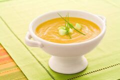 Roasted acorn squash soup.