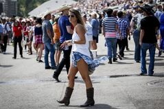 It's referred to as the Greatest Outdoor Show on Earth, but at least one Alberta matchmaker says the Calgary Stampede is also the greatest singles event on the planet. Crowds attend the rodeo at the Calgary Stampede in Calgary, Sunday, July 6, 2014. THE CANADIAN PRESS/Jeff McIntosh