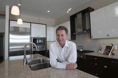 Huntington Homes' Rob Swan at 20 Cypress Ridge show home.