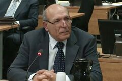 Nicolo Milioto testifies at the Charbonneau Inquiry in Montreal, Monday, Feb.18, 2013 in this screengrab image. The Quebec corruption inquiry has arrived at the doorstep of the Sicilian Mafia.A man known as