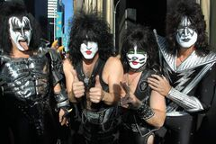 From left: Gene Simmons, Paul Stanley, Eric Singer and Tommy Thayer of Kiss.