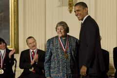 Yvonne Brill receives a National Medal of Technology and Innovation from U.S. President Barack Obama. Brill grew up in Winnipeg.