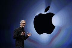 Apple CEO Tim Cook speaks during an introduction of the new iPhone 5 in San Francisco in 2012.