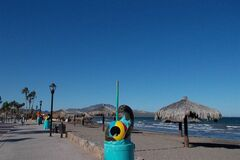 This January 2014 photo shows an empty beach in Loreto, Mexico, a seaside village on the Baja Peninsula. (AP Photo/Karen Schwartz)