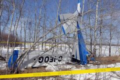 This ultra-light plane crashed just off provincial road 304 one kilometre east of Highway 12 Thursday about 2 p.m. The two occupants of the plane survived and are being treated for non life-threatening injuries, RCMP say.