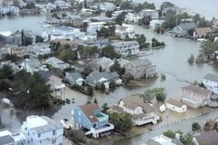 Large swaths of the eastern seaboard were under water for days in the aftermath of Hurricane Sandy, which hit on Oct. 29.