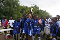The Sierra Stars, winners of the 2011 African Cup of Manitoba.